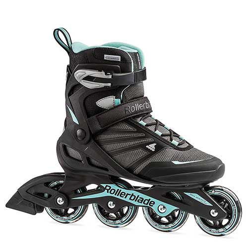 8. Rollerblade Zetrablade Women's Adult Fitness Inline Skate, Black and Light Blue, Performance Inline Skates