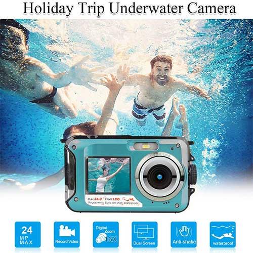 5. Waterproof Underwater Digital Cameras for Snorkeling, Waterproof Cameras Digital Underwater Video Recorder by Suntak