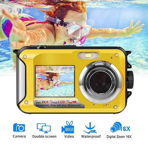 4. Underwater Camera Waterproof Camera Full HD 1080P for Snorkelling Point and Shoot Digital Camera by Gongpon
