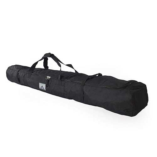 7. High Sierra Padded Ski Bag for Single Pair of Skis (Up to 185cm) – Black