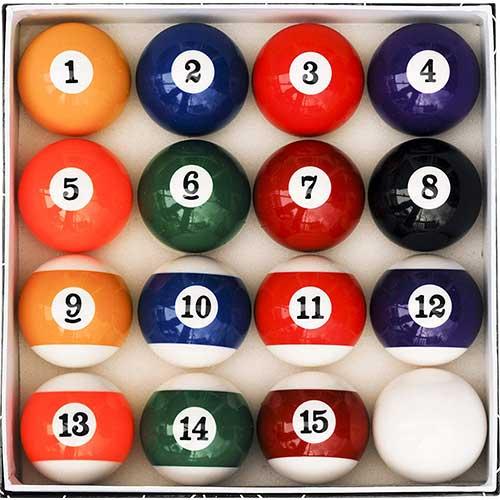 3. Pool Table Billiard Ball Set, Art Number Style