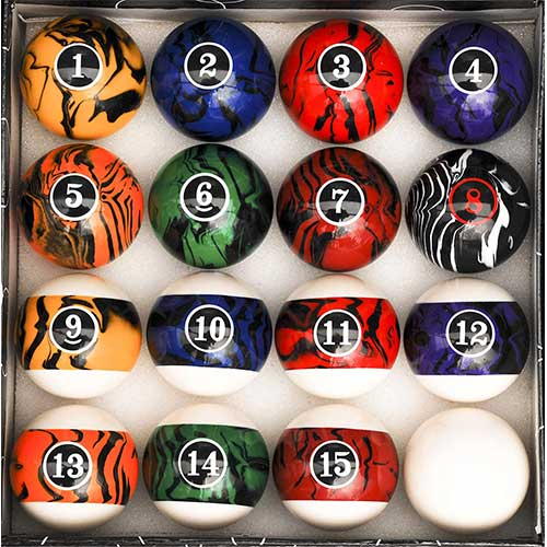 6. Iszy Billiards Pool Table Billiard Ball Set Marble - Swirl Style Several Styles to Choose