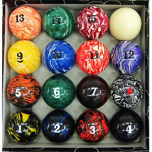 8. Iszy Billiards Pool Table Billiard Ball Set Marble - Swirl Style Several Styles to Choose From