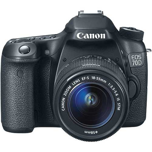 Best Cameras for Youtube Live Streaming 8. Canon EOS 70D Digital SLR Camera with 18-55mm STM Lens
