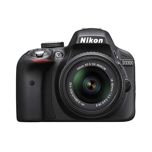 Best Cameras for Youtube Live Streaming 7. Nikon D3300 24.2 MP CMOS Digital SLR with Auto Focus-S DX NIKKOR 18-55mm f/3.5-5.6G VR II Zoom Lens (Black)