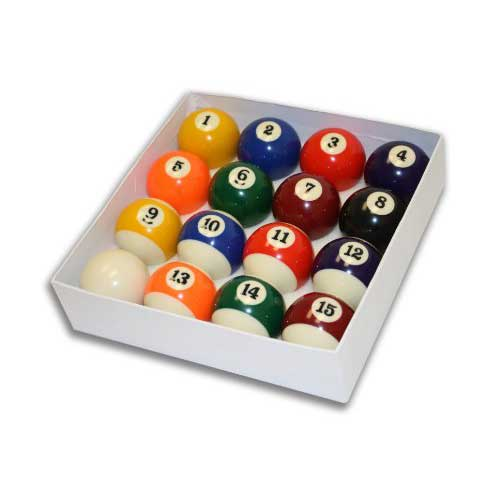 2. Empire USA Deluxe Pool Ball Set Standard Size 2-1/4