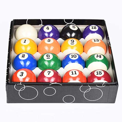 10. T&R Sprorts Deluxe Billiards Pool Ball Set - Regulation Size 2-1/4
