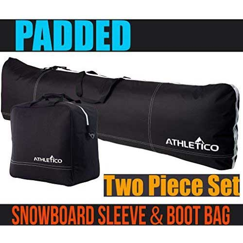 10. Athletico Padded Two-Piece Snowboard and Boot Bag Combo