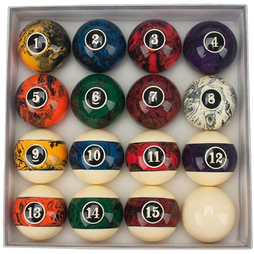 5. GSE Games & Sports Expert 2 1/4-Inch Billiard Table Pool Ball Set (Art Number/Marble Swirl Style)