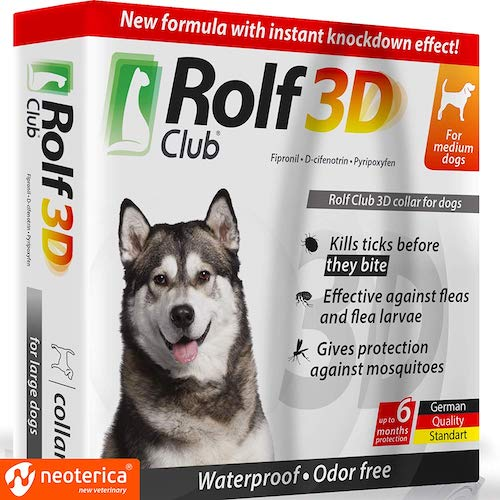 10. Rolf Club 3D FLEA Collar for Dogs - Flea and Tick Prevention for Dogs