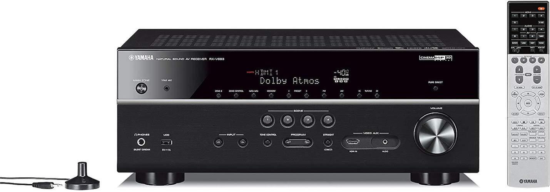 6. Yamaha RX-V683BL 7.2-Channel MusicCast AV Receiver