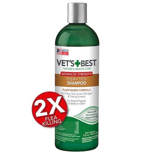 2. Vet's Best Flea and Tick Advanced Strength Dog Shampoo | Flea Treatment for Dogs | Flea Killer