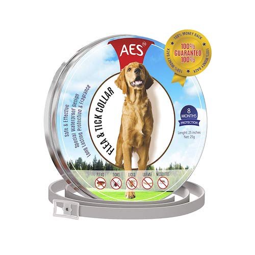 9. Flea and Tick Collar for dogs - Prevention Essential Oil for Pets / Control 8 month protection feature
