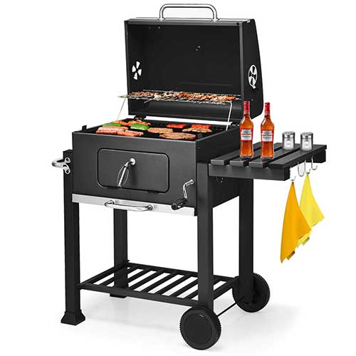 6. Giantex BBQ Charcoal Grill Portable Barbecue Grill for Lawn Picnic Backyard Balcony