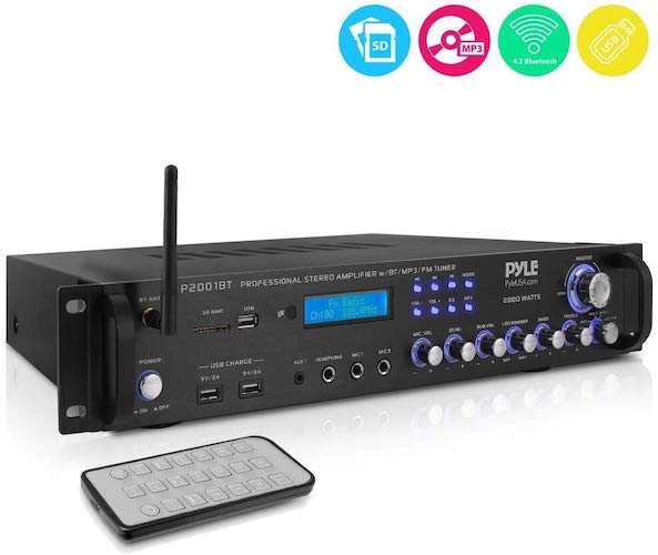 8. Multi-Channel Bluetooth Preamplifier Receiver - 2000 Watt Audio Home Speaker Sound Stereo Receiver
