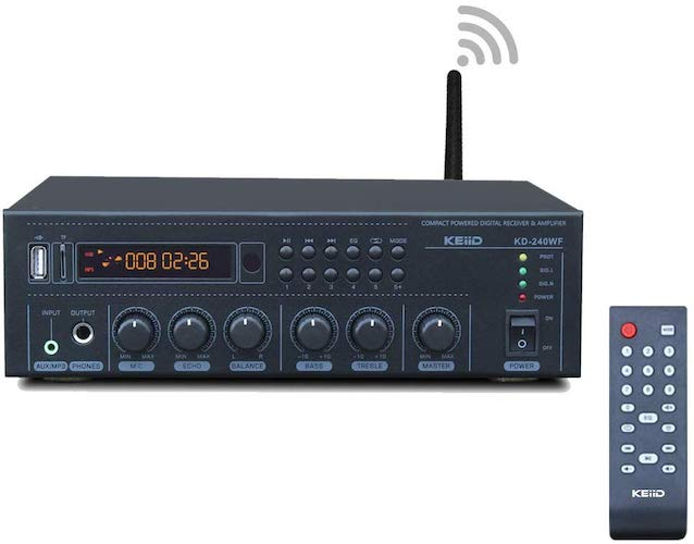 3. KEiiD WiFi & Bluetooth 5.0 Stereo Digital Amplifier Receiver