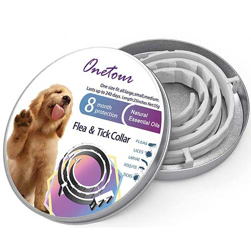 9. Flea and Tick Collar for Dogs - 8 Months Continuous Flea Prevention Collar for Dogs - One Size Fits All - Easily Adjustable and Waterproof Design