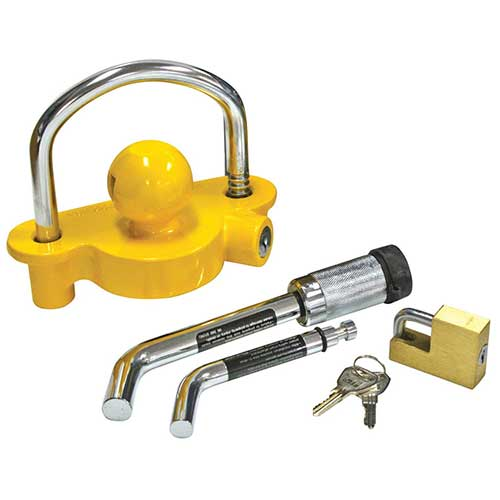 Best Trailer Hitch Locks 1. Reese Towpower 7014700 Tow 'N Store Lock Kit