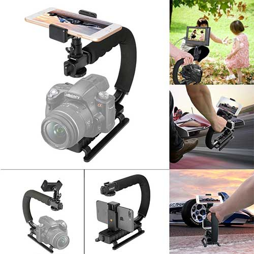 Best Gopro Gimbal Stabilizers 5. fantaseal 4in1 DSLR/Mirrorless/Action Camera +Camcorder +Smartphone Stabilizer Holder We-Media
