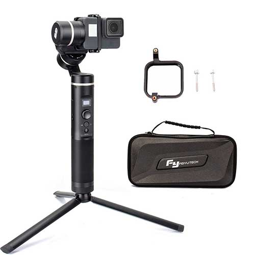 Best Gopro Gimbal Stabilizers 6. FY FEIYUTECH Feiyu G6 3-Axis Splash Proof Handheld Gimbal Updated Version of G5 with EACHSHOT Mini Tripod