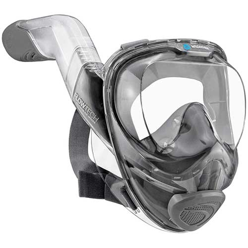 Best Full Face Snorkel Masks 10. WildHorn Outfitters Seaview 180° V2 Full Face Snorkel Mask with FLOWTECH Advanced Breathing System - Allows for A Natural & Safe Snorkeling Experience- Panoramic Side Snorkel Set Design
