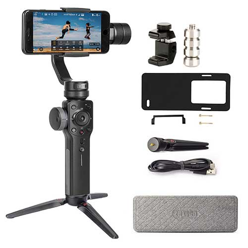 Best Gopro Gimbal Stabilizers 3. Zhiyun Smooth 4 3-Axis Handheld Gimbal Stabilizer Compatible FiLMiC Pro (Gopro Adapter/Charging Cable/Counterweight Included)