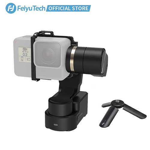 Best Gopro Gimbal Stabilizers 4. FeiyuTech WG2X 3-Axis Gimbal for GoPro Hero 7/6/5/4/3 Wearable Stabilizer Bike Bicycle/Helmet/Car Mounting Gimble for Action Camera