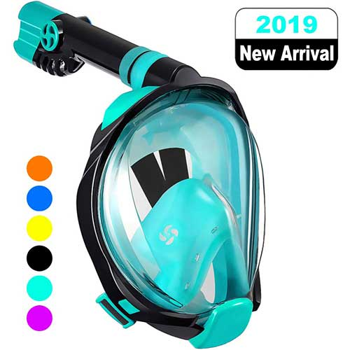 Top 10 Best Full Face Snorkel Masks in 2019 Reviews