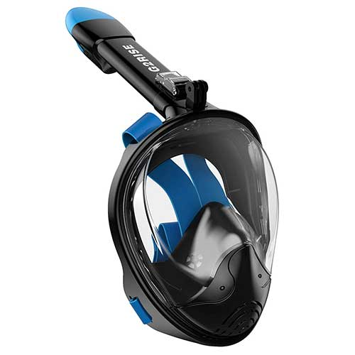 Best Full Face Snorkel Masks 5. G2RISE SN01 Full Face Snorkel Mask with Detachable Snorkeling Mount, Anti-Fog and Foldable Design for Adults Kids