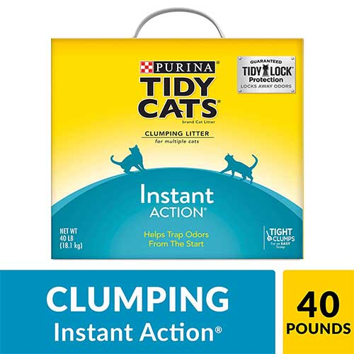 Best Cat Litters for Tracking 3. Purina Tidy Cats Instant Action Clumping Cat Litter
