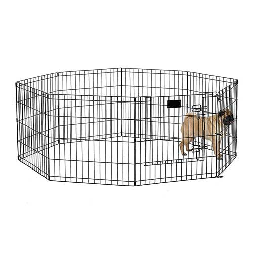 1. MidWest Exercise Pen / Pet Playpens | 8-Panels Each w/ 5 Height Options Ideal for Any Dog Breed