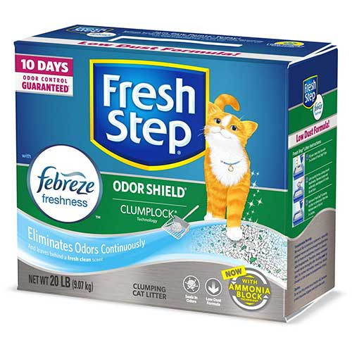 Best Cat Litters for Tracking 5. Fresh Step with Febreze Freshness, Clumping Cat Litter