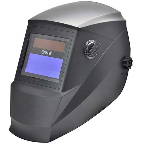 2. Antra Welding Helmet AH6-260-0000 Solar Power Auto Darkening Wide Shade Range 4/5-9/9-13 for TIG MIG MMA Plasma