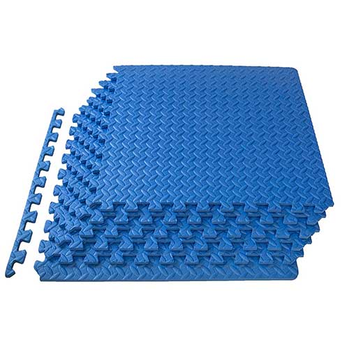 8. ProsourceFit Puzzle Exercise Mat, EVA Foam Interlocking Tiles