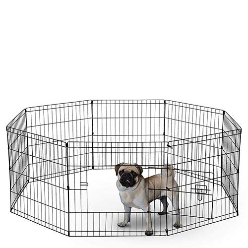 8. Dog Exercise Pen Pet Playpens for Dogs - Puppy Playpen Outdoor Back or Front Yard by Paws & Pals