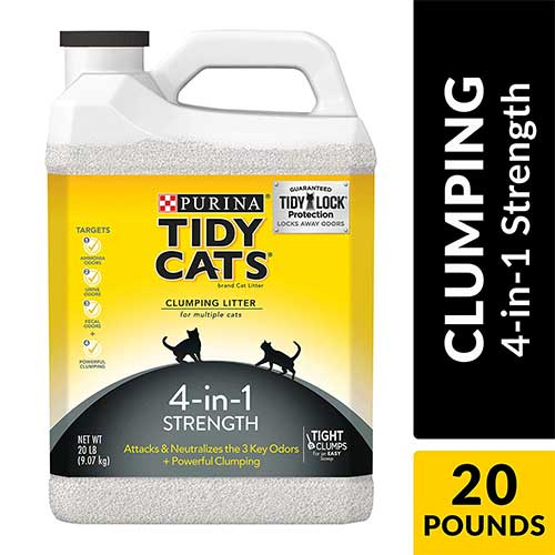 Best Cat Litters for Tracking 9. Purina Tidy Cats 4-in-1 Strength Clumping Cat Litter