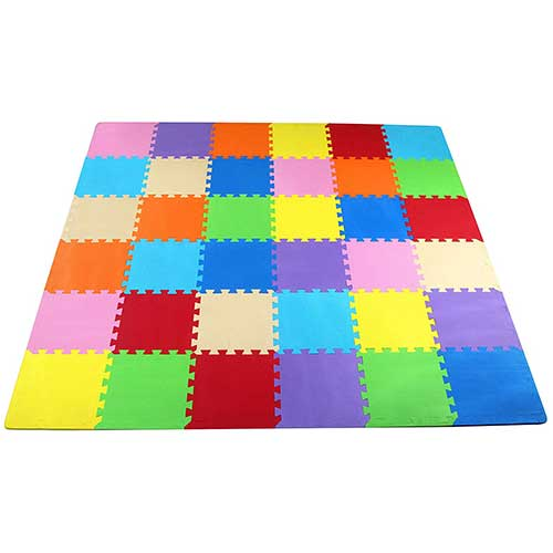 2. BalanceFrom Kid's Puzzle Exercise Play Mat with EVA Foam Interlocking Tiles