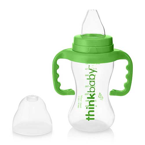 Best Sippy Cup for 6 Month Old Breastfed Baby 9. thinkbaby Sippy Cups, Light Green, 9 Ounce