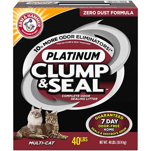 Best Cat Litters for Tracking 2. ARM & HAMMER Clump & Seal Platinum Cat Litter, Multi-Cat