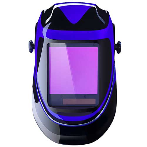 7. Solar Powered Welding Helmet Auto Darkening Professional Hood with Wide Lens Adjustable Shade Range 4/9-13 by DEKOPRO
