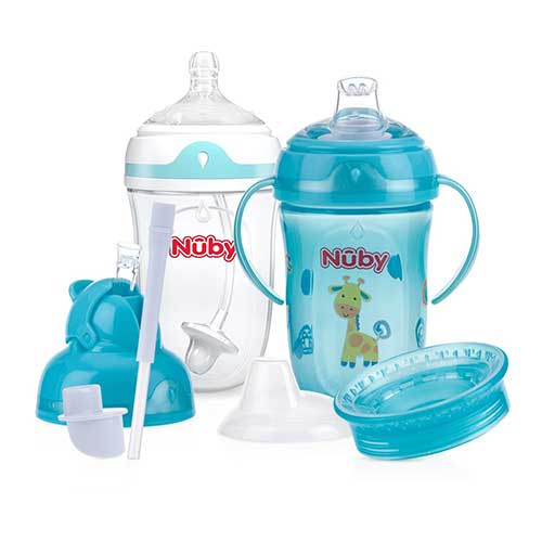 Best Sippy Cup for 6 Month Old Breastfed Baby 4. Nuby 6 Stage 360 Comfort Cup Starter Set