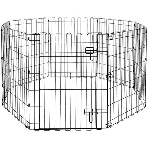2. AmazonBasics Foldable Metal Pet Exercise and Playpen