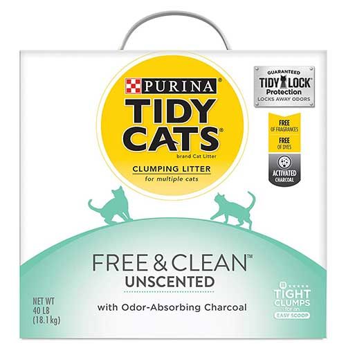 Best Cat Litters for Tracking 8. Purina Tidy Cats Free & Clean Clumping Cat Litter