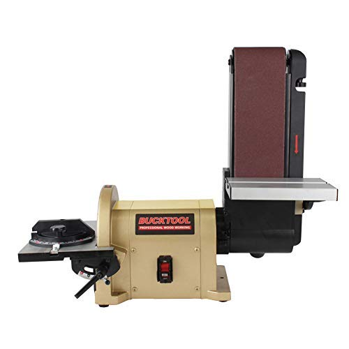 6. BUCKTOOL 4 x 36-Inch Belt and 8-Inch Disc Sander with 3/4Hp Motor