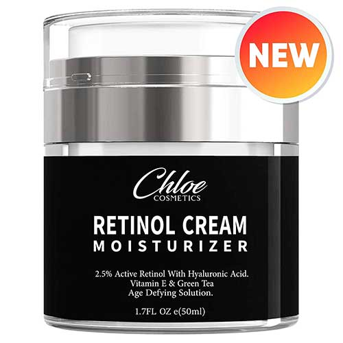 7. Retinol Moisturizer for Face and Eye area | Anti-Aging Cream by Chloe Cosmetics