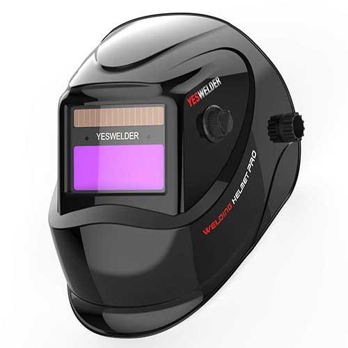 3. YESWELDER True Color Solar Powered Auto Darkening Welding Helmet, Wide Shade 4/9-13 for TIG MIG ARC Weld Hood Helmet
