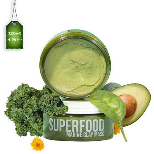 8. 100% VEGAN Dead Sea Mud Mask with Superfoods