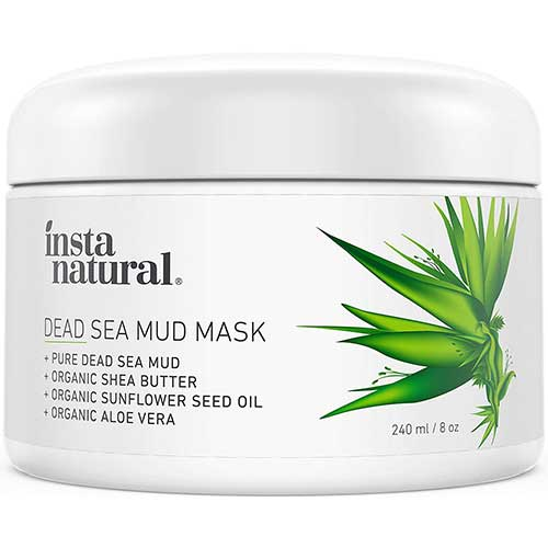9. InstaNatural Dead Sea Mud Mask - Reduce Facial Pores - Organic for Oily & Acne Prone Skin, Blemishes & Complexion