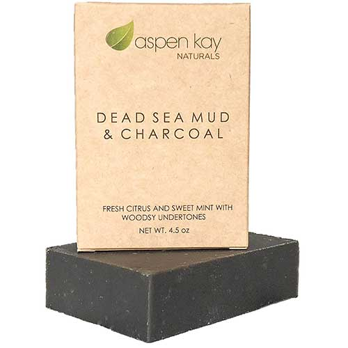 6. Dead Sea Mud Soap Bar Natural & Organic Ingredients. With Activated Charcoal & Therapeutic Grade Essential Oils. Face Soap or Body Soap