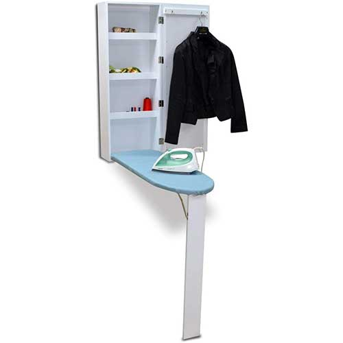 6. Organizedlife Brown Hide Away Ironing Board Center Cabinet Wall Mount